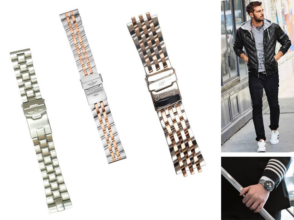 Стальной браслет к часам Breitling