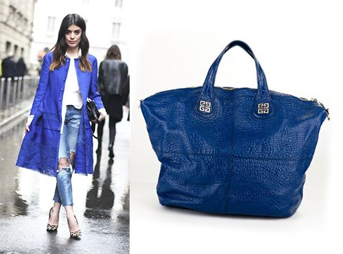 Женская сумка Givenchy синего цвета