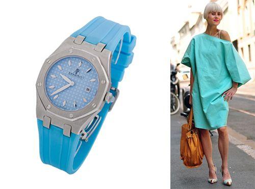 Часы женские Audemars Piguet с голубым циферблатом