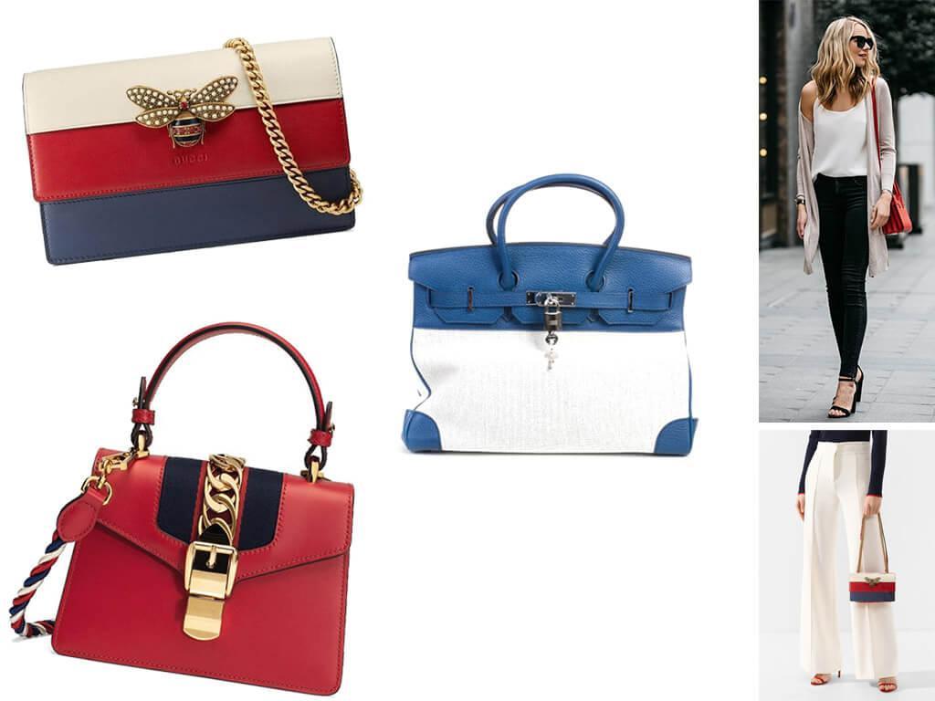 Женские кожаные сумки комбинированного цвета
