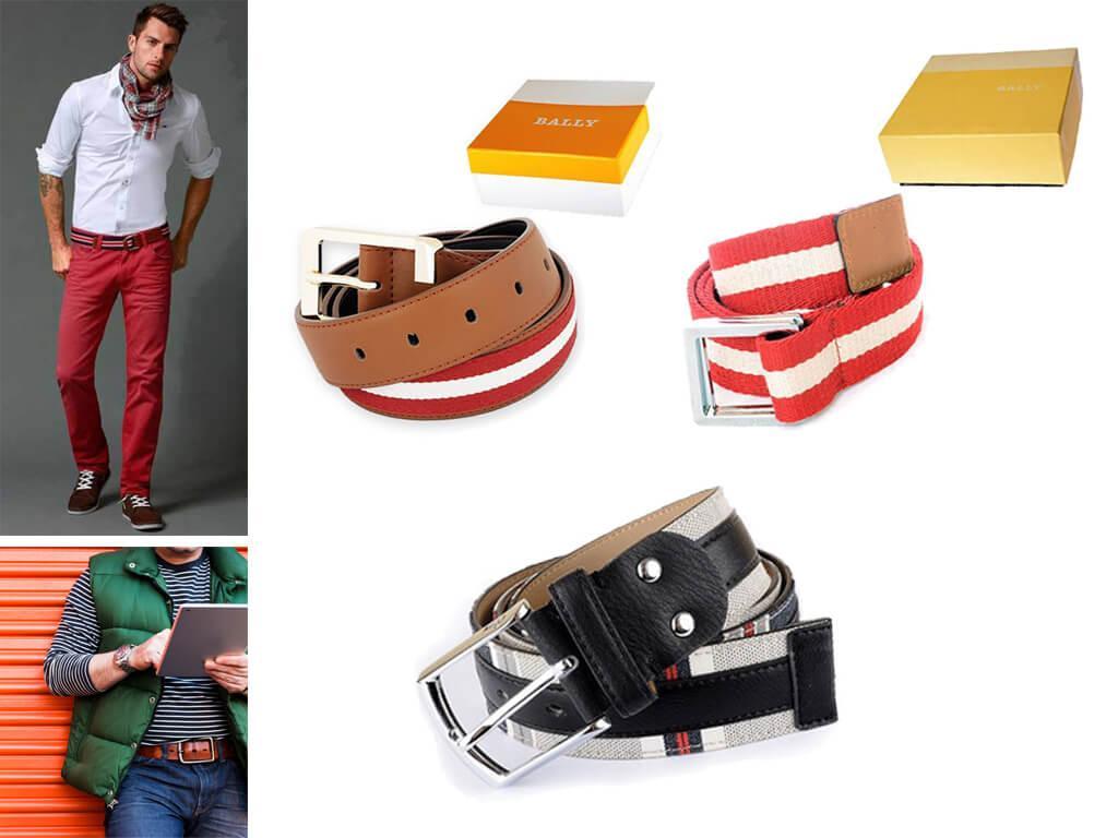 Мужские брендовые красные ремни