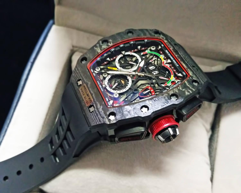 Точная реплика мужских часов Richard Mille RM 50-03 TOURBILLON CHRONOGRAPH McLAREN F1