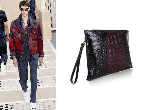 Мужская клатч-сумка от Prada