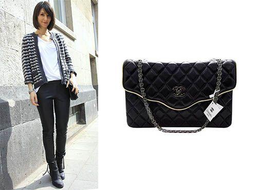 Кожаный женский клатч от Chanel