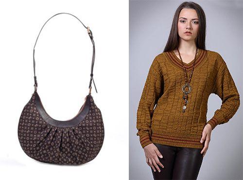 Коричневая женская сумка Louis Vuitton