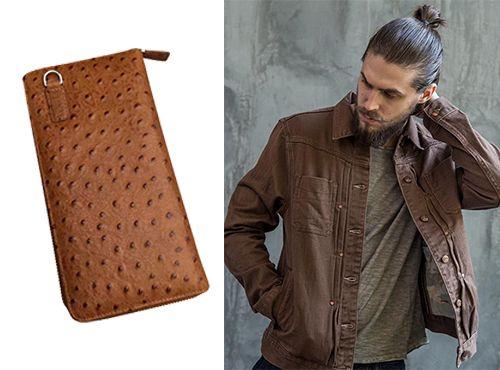 Мужской бумажник из кожи от Prada