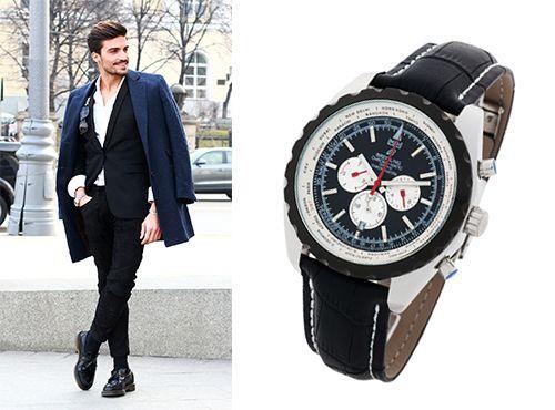 Мужские часы Брайтлинг с 24-часовой индикацией