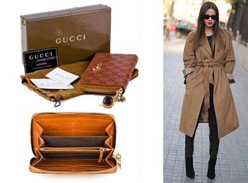 Женское кожаное портмоне Gucci