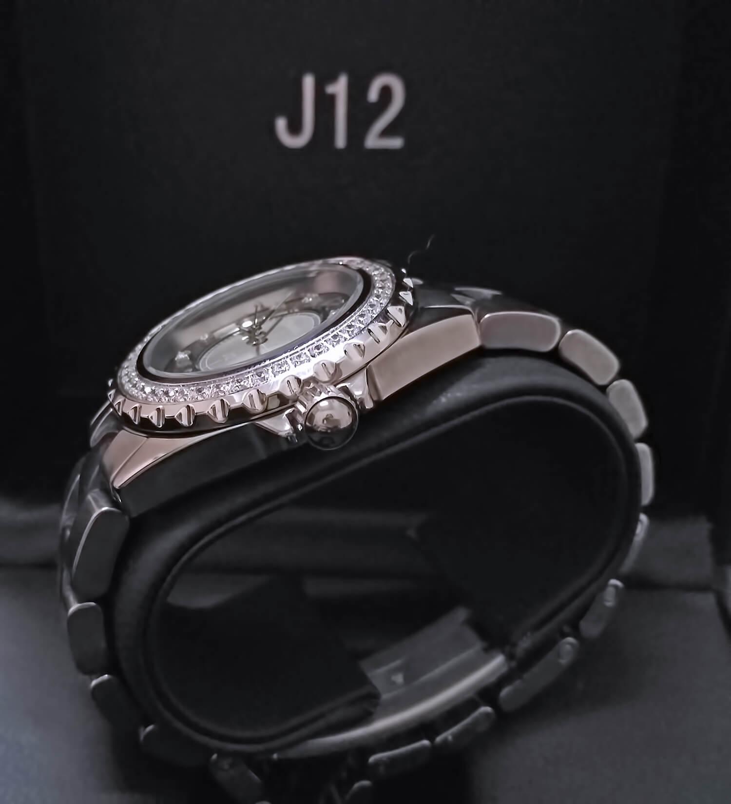 Керамические корпус и браслет реплики Chanel J12 Chromatic Diamond