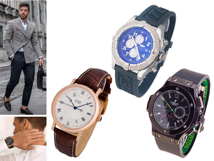 Японские часы с ремешком для мужчин