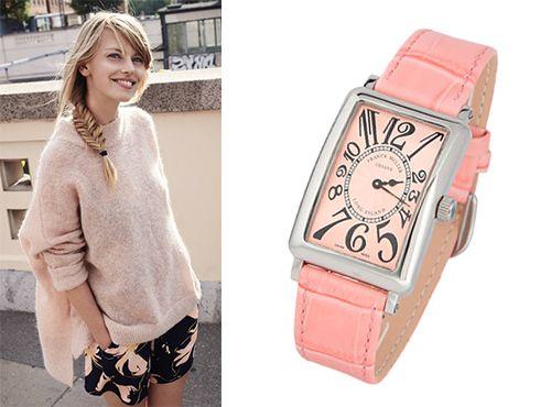 Наручные часы Franck Muller розовый циферблат