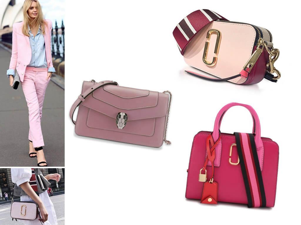Женские кожаные сумки розового цвета