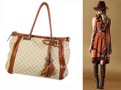 Кожаная сумка Gucci для женщины