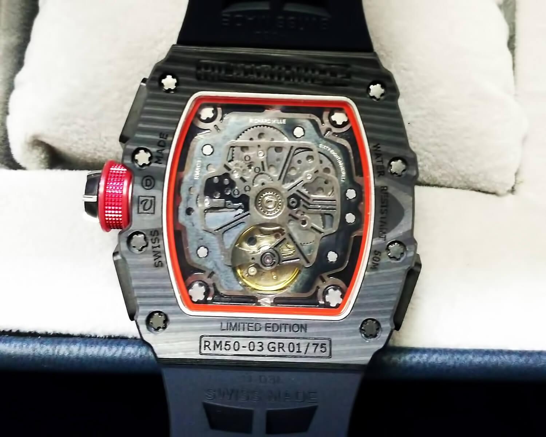 Оборотная сторона корпуса реплики Richard Mille RM 50-03