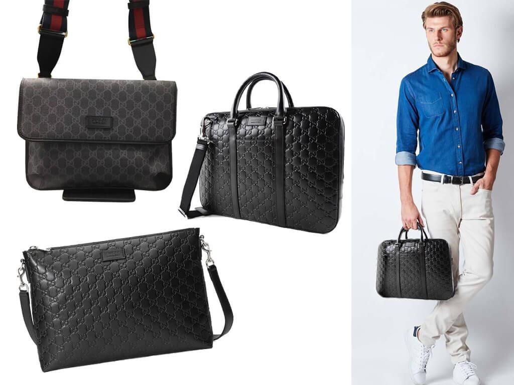 Черная кожаная сумка Gucci