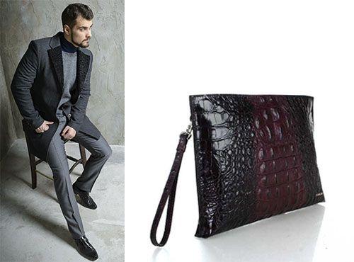 Двухцветная мужская сумка от Прада