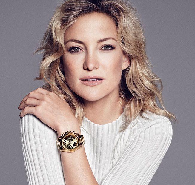 золотые часы Кейт Хадсон Michael Kors