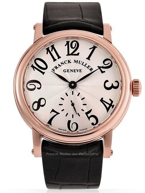 Мужские часы Frank Muller Classik Round Leather Strap Watch