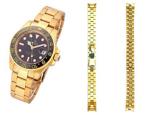 Ремень для часов Rolex золотистого цвета
