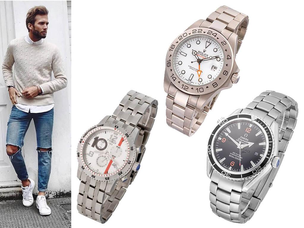 Часы спортивного стиля на браслете