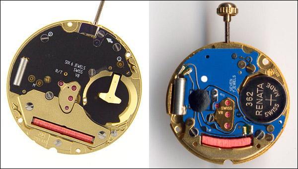 Электронный механизм в часах