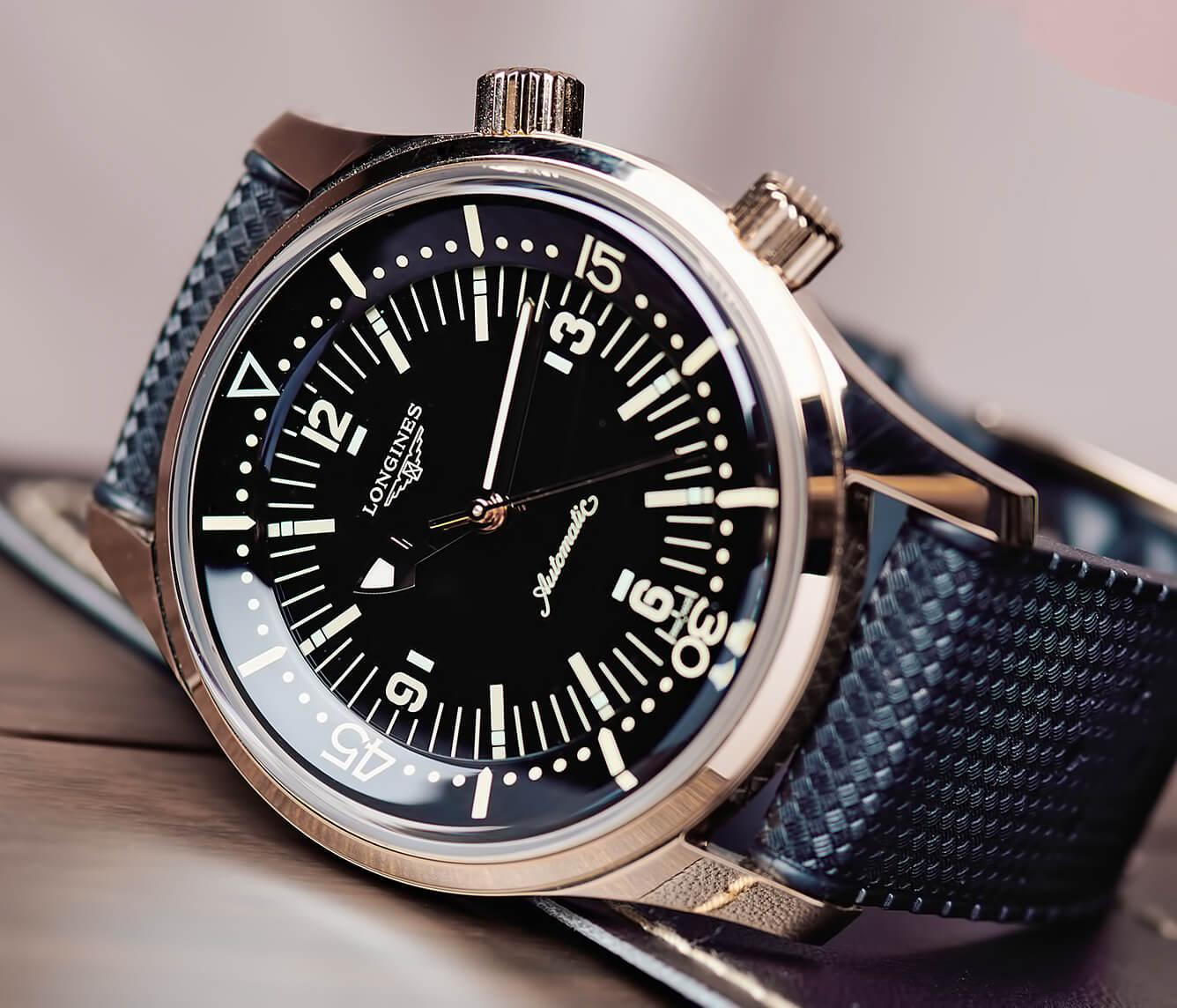 Часы Longines Legend Diver с двумя заводными головками