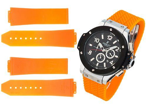 Оранжевый ремень для мужских часов Hublot