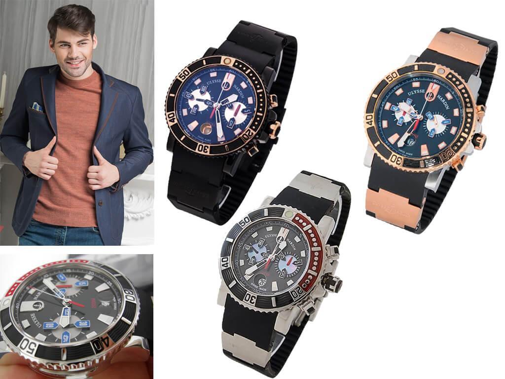 Мужские часы Ulysse Nardin Maxi Marine Diver Chronograph из коллекции Diver