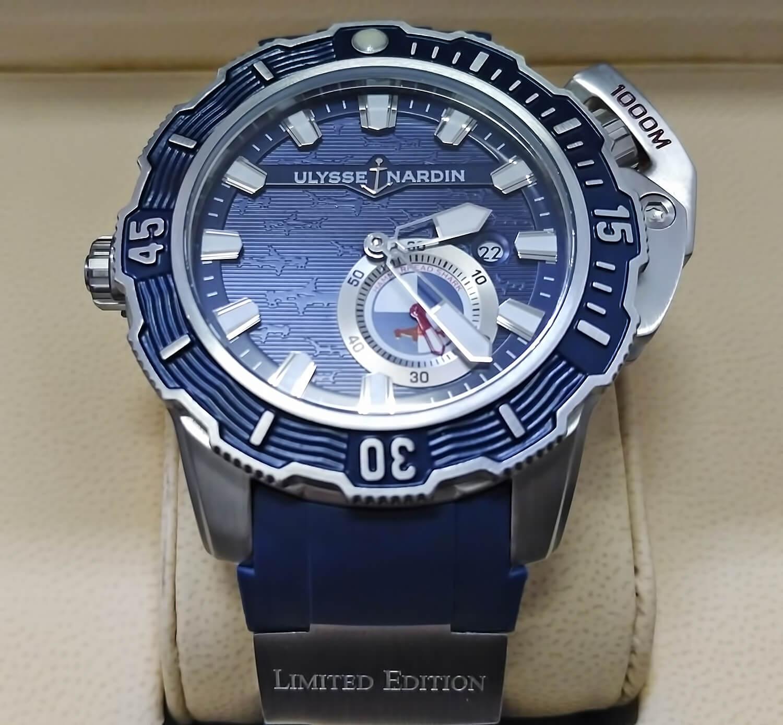 Циферблат реплики Ulysse Nardin Diver Deep Dive Hammerhead Shark 46 mm