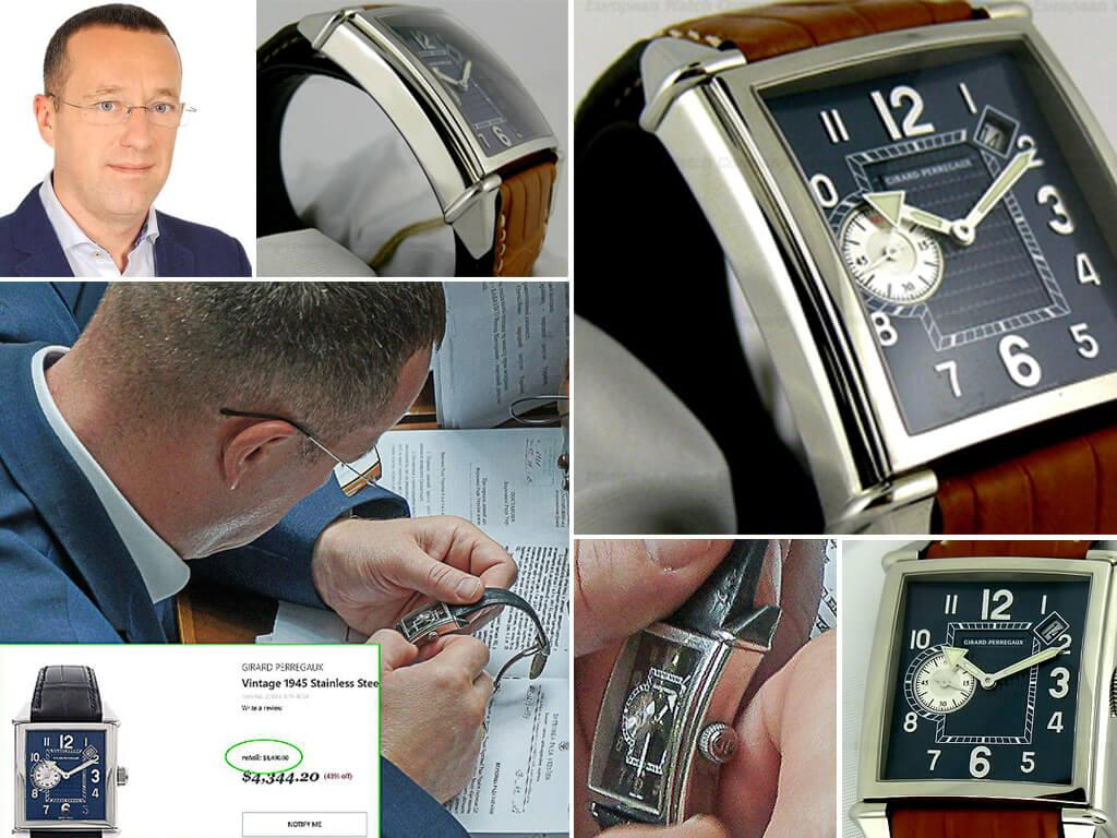 Часы Евгения Петруняка Girard Perregaux Vintage 1945