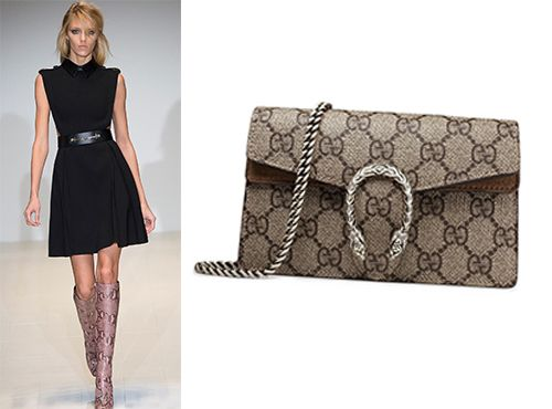 Женская сумка Gucci с рисунком