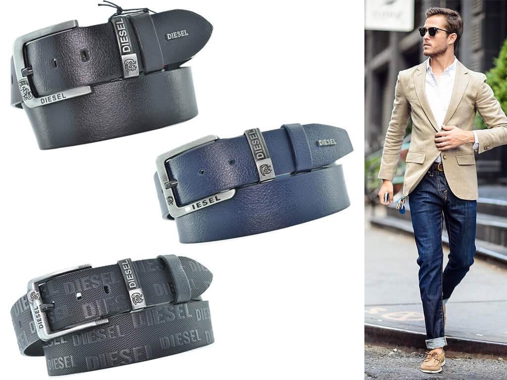 Ремни кожаные Diesel для мужчин