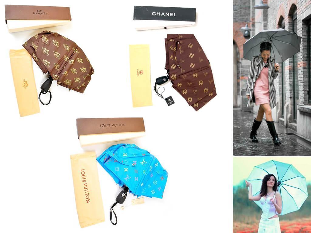 Брендовые женские зонты – еще одно, несомненно, преимущество прекрасной половины человечества.