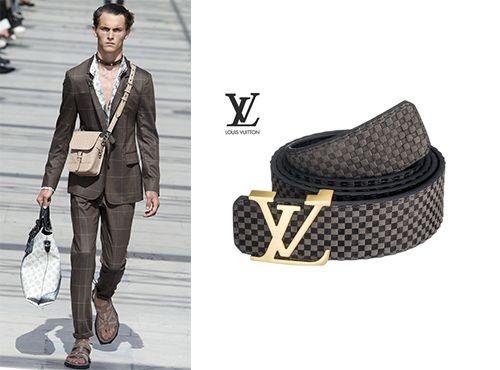 Мужской брючный кожаный ремень от Louis Vuitton