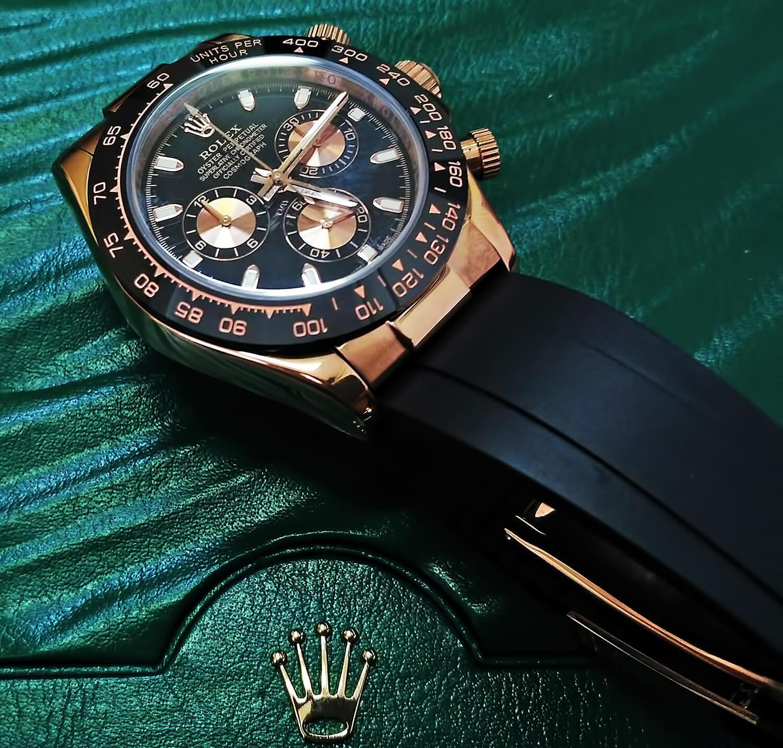 Высокоточная реплика Rolex Cosmograph Daytona 40mm Everose Gold