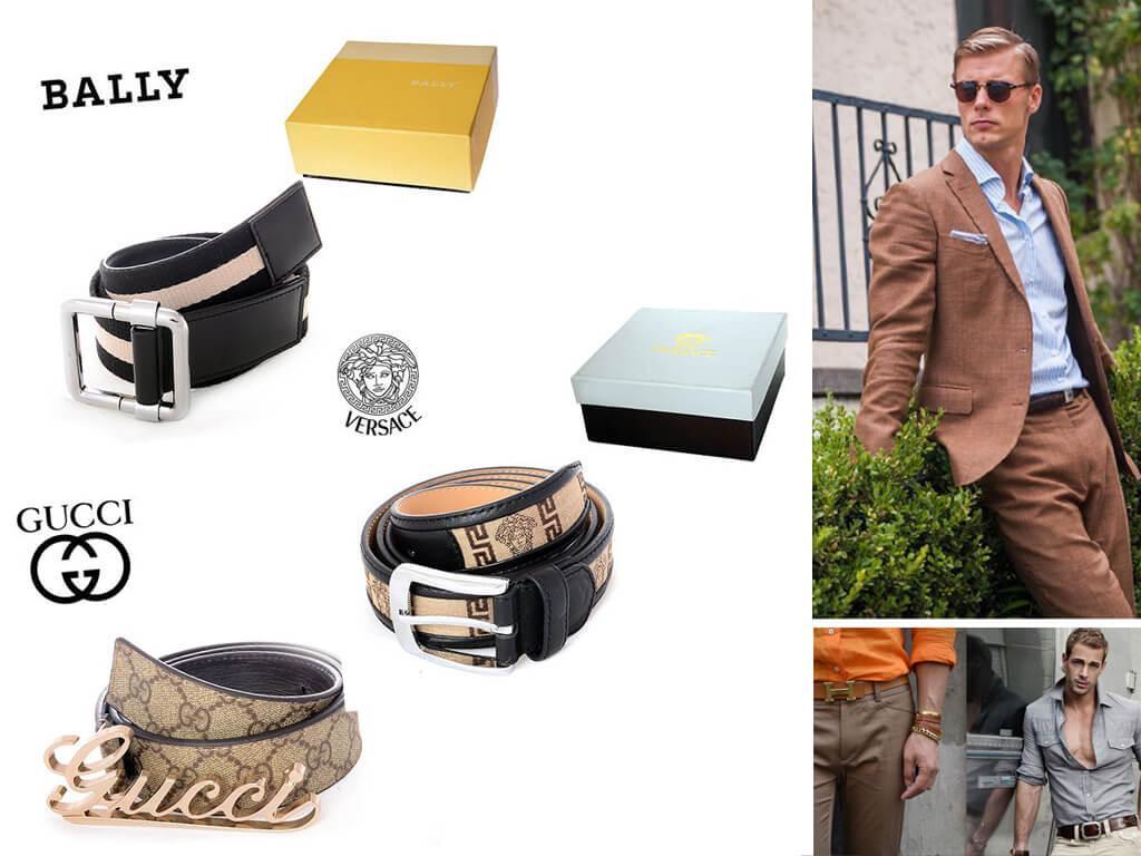 Мужские ремни бежевого цвета - универсальный вариант, особенно для летнего гардероба