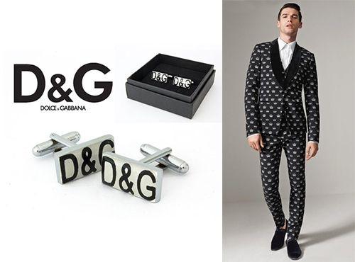 Запонки мужские от Dolce Gabbana