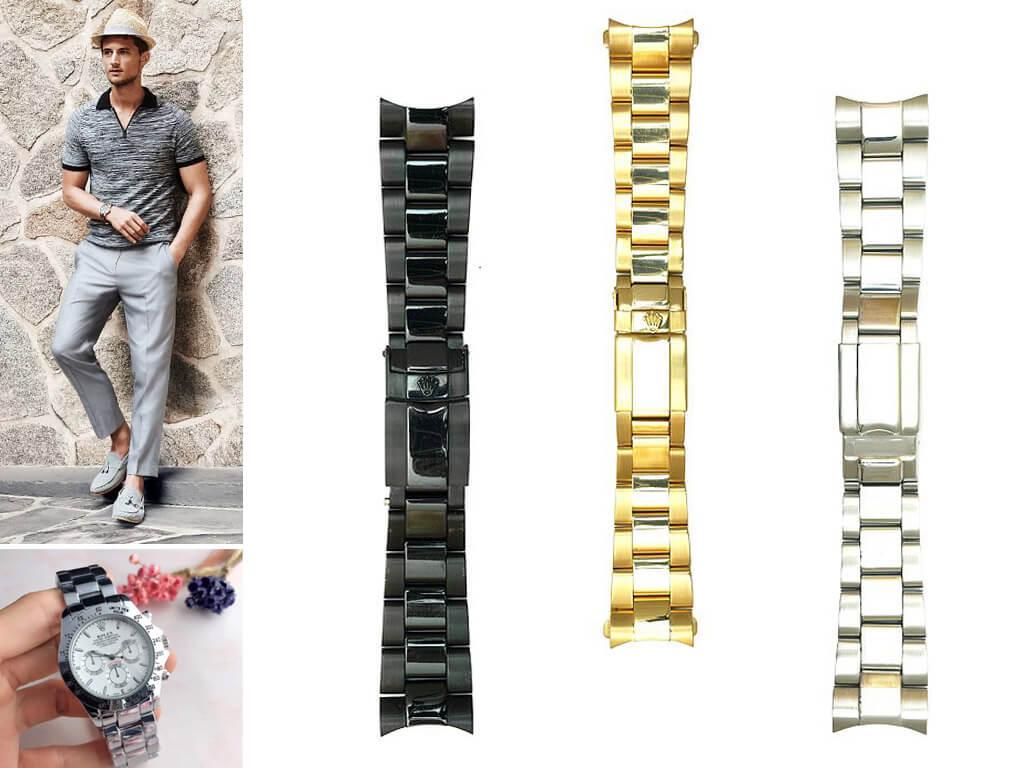 Стальные браслеты на часы Ролекс