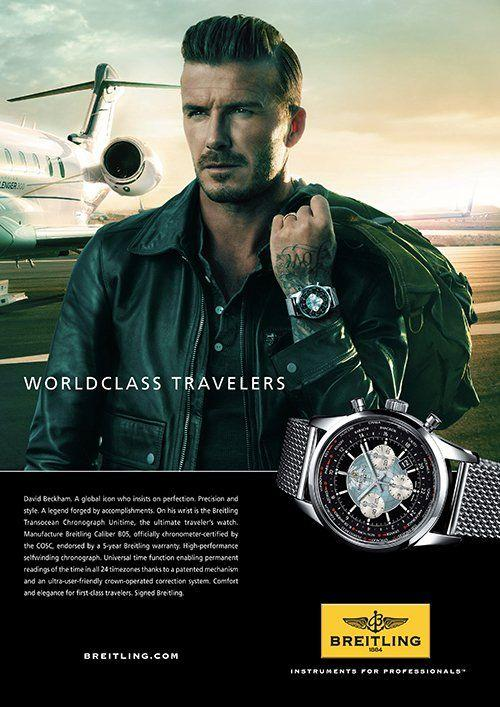 Часы Дэвида Бэкхема Breitling Transocean Chronograph Unitime Worldtime