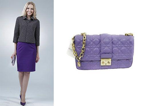Женская клатч-сумка из кожи Christian Dior
