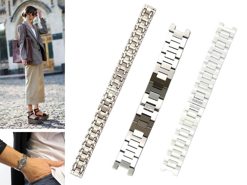 Браслет Картье служит не только фиксатором, но и является стильным дополнением не менее стильных часов