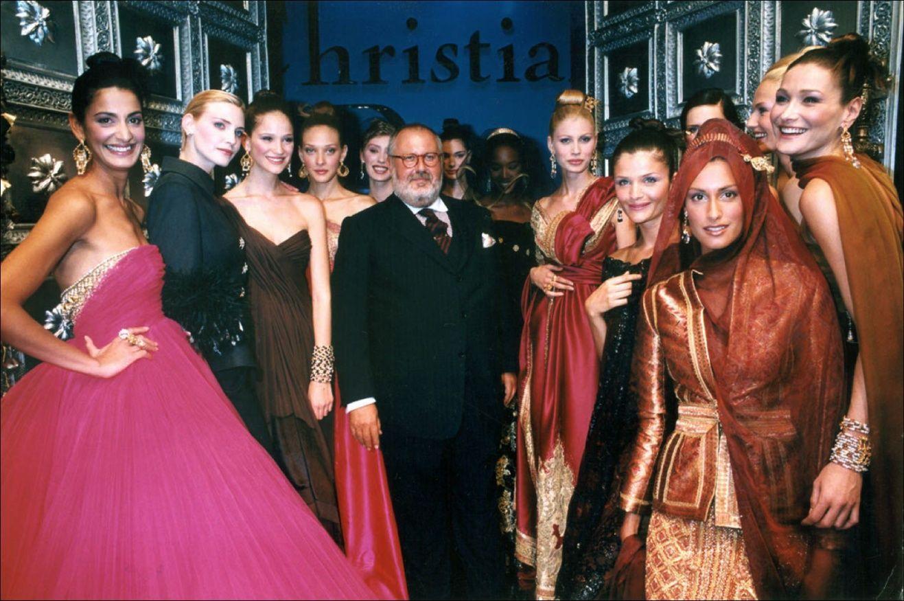 Джанфранко Ферре на показе Дома моды Christian Dior