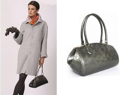 Серая сумка Louis Vuitton женская