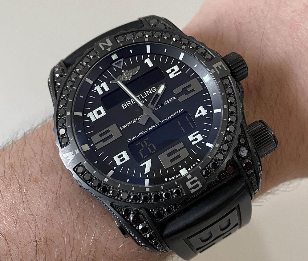 Часы Breitling с комбинированным циферблатом