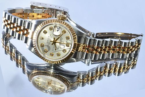 Rolex Oyster Perpetual Datejust with diamonds