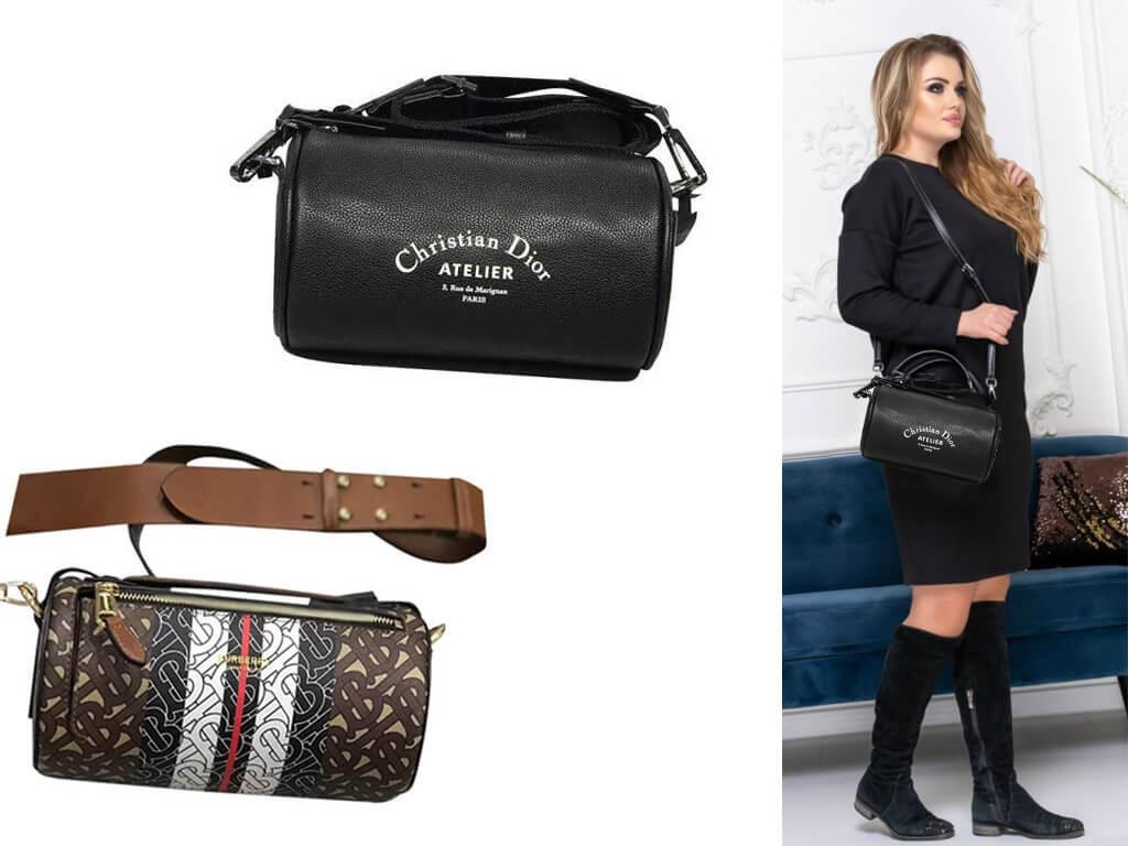 Женские сумочки бочонком