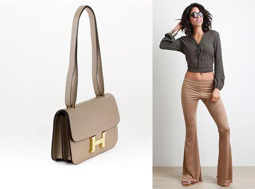 Бежевая женская клатч-сумка от Hermes
