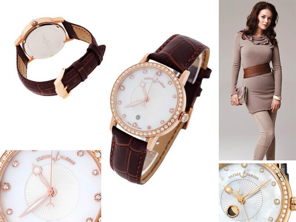 Часы наручные женские Ulysse Nardin Classico Lady Luna из коллекции Classic