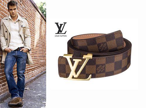 Брючный ремень из кожи Louis Vuitton