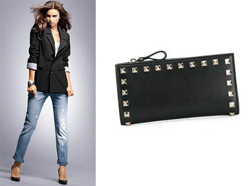 Женское портмоне из кожи Valentino